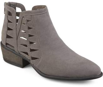Co Brinley Womens Side Slit Faux Suede Booties