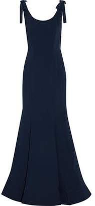 Mikael Aghal Bow-embellished Cutout Cady Gown