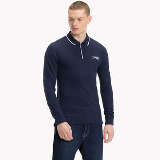 Tommy Hilfiger Stretch Cotton Long-Sleeve Polo