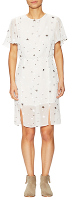 Star Printed Flutter Sleeve Shift Dress $80 thestylecure.com
