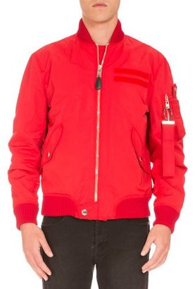 Givenchy Nylon Bomber Jacket, Red $2,565 thestylecure.com