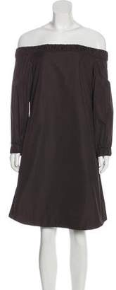 Akris Punto Off-The-Shoulder Knee-Length Dress w/ Tags