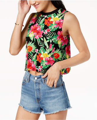Macy's The Edit By Seventeen Juniors' Printed Crop Top, Created for