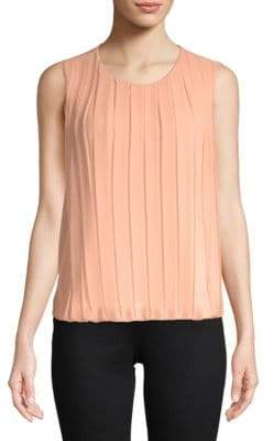 Calvin Klein Pleated Sleeveless Top