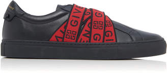 Givenchy Urban Street Logo-Embellished Leather Sneakers