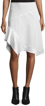 DKNY Paneled Asymmetric Crepe Skirt, Chalk $358 thestylecure.com