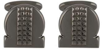 Salvatore Ferragamo studded Gancio cufflinks