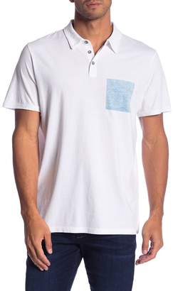 JASON SCOTT Contrast Patch Short Sleeve Polo