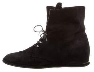 Stuart Weitzman Suede Lace-Up Boots