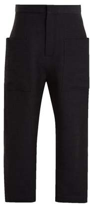 Raey - Linen Patch Pocket Trousers - Womens - Navy