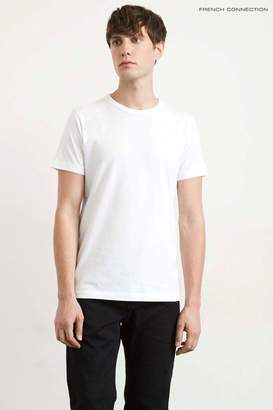 Next Mens French Connection White Classic Crew Neck T-Shirt