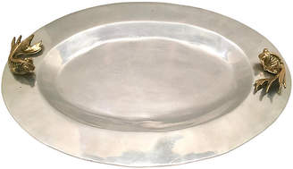 One Kings Lane Vintage Polished Aluminum & Brass Platter - nihil novi