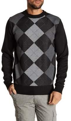 Yoki Argyle Crew Neck Knit Sweater