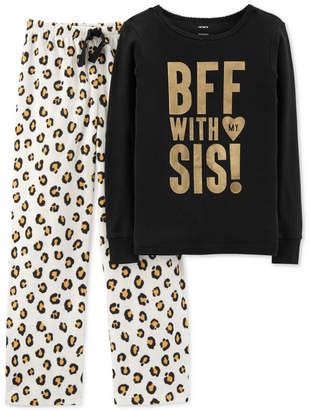 Carter's Little & Big Girls 2-Pc. Cotton & Fleece Pajamas Set