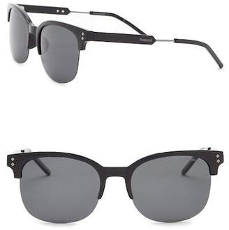 Polaroid EYEWEAR Polarized 54mm Clubmaster Sunglasses