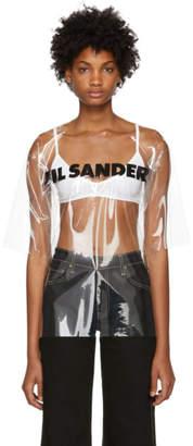 Jil Sander (ジル サンダー) - Jil Sander トランスペアレント PVC ロゴ T シャツ