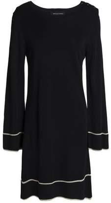 Vanessa Seward Metallic-Trimmed Ribbed-Knit Dress
