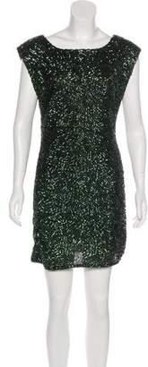 Alice + Olivia Sequined Mini Dress