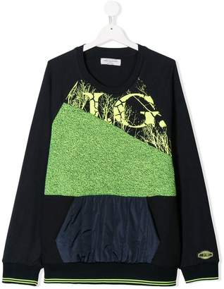 John Galliano TEEN panelled sweatshirt