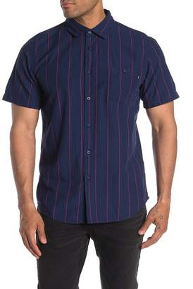 Obey Hunter Stripe Short Sleeve Regular Fit Woven Shirt