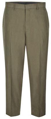 Khaki Tencel Wide Leg Cropped Dress Pants $70 thestylecure.com