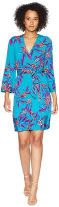 Calvin Klein Floral Print Faux Wrap Dress CD8A37PJ Women's Dress