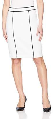 Calvin Klein Women's Petite Knit Piped Skirt