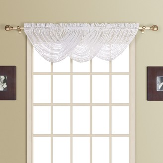 Co United Curtain Rochelle Lace Waterfall Window Valance - 44'' x 38''
