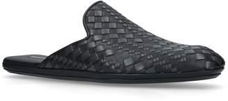Bottega Veneta Leather Intrecciato Mules