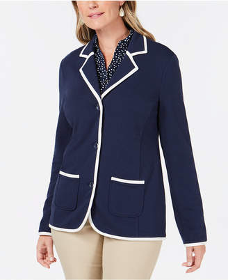 Charter Club Piped-Trim Blazer