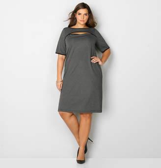 Avenue Ribbed Peek-A-Boo Dress