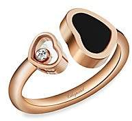 246acdeb9 Chopard Happy Hearts 18K Rose Gold, Diamond & Black Onyx Ring