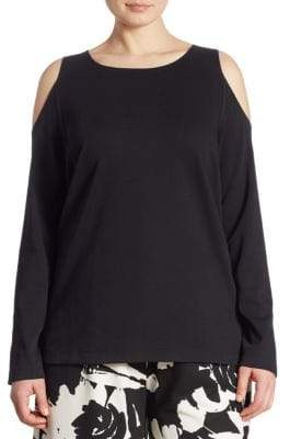 Joan Vass Cold-Shoulder Top