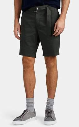 Eleventy Men's Cotton Twill Belted Bermuda Shorts - Green