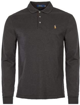 Ralph Lauren Slim Fit Long Sleeve Polo - Granite