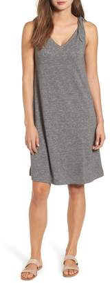 Caslon Knot Strap Knit Swing Dress (Petite)