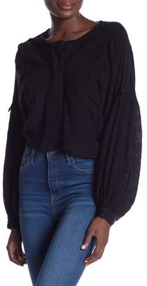 Free People Day Dreaming Blouson Sleeve Shirt