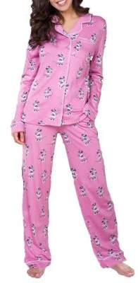 Munki Munki Mommy & Me Pajamas Women's Minnie Mouse Pajamas Set