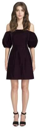 Jill Stuart Lucia Off-The-Shoulder Velvet Cocktail Dress