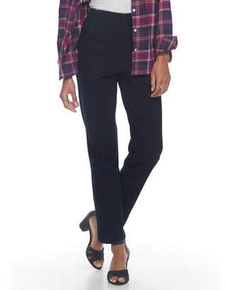 Croft & Barrow Women's Pull-On Tapered-Leg Jeans