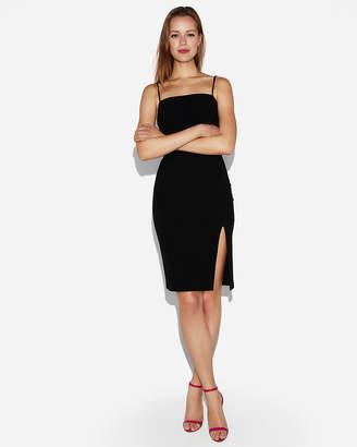 Express Petite Front Slit Sheath Dress