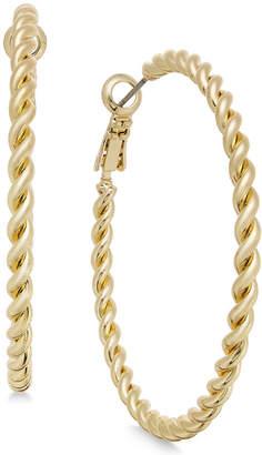 Charter Club Gold-Tone Rope-Look Hoop Earrings, Created for Macy's