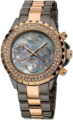 August Steiner Womens Rose Goldtone Bracelet Watch-As-8031ttr