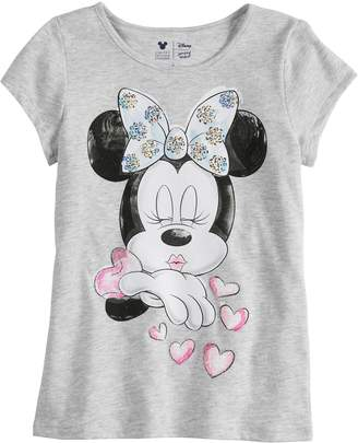Disney Minnie Mouse Toddler Girls Kissing Tee By Jumping Beans