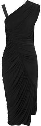 Jason Wu One-Shoulder Ruched Stretch-Jersey Dress