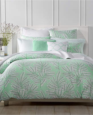 Charter Club CLOSEOUT! Fern Mint Bedding Collection, Created for Macy's