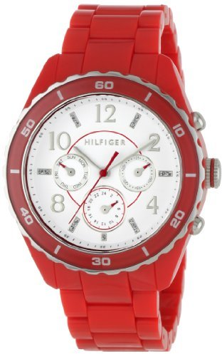 Tommy Hilfiger Women's 1781094 Sport Multi Eye Red Bracelet Watch