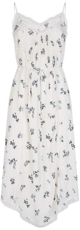 Floral Lace-Trim Slip Dress