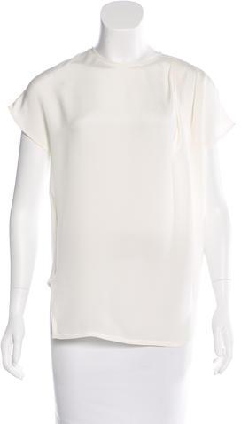 Cédric CharlierCédric Charlier Asymmetrical Short Sleeve Top