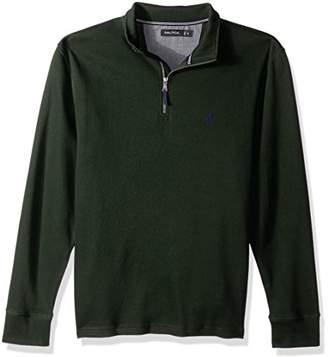 Nautica Men's Long Sleeve Half Zip Mock Neck Luxe Sweatshirt